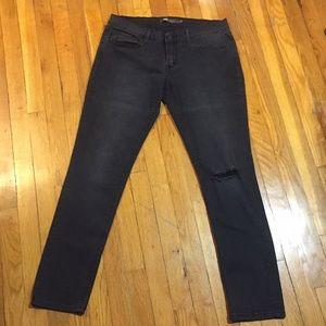 Levi's 524 Skinny Jeans in Faded Black, Size 11